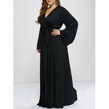 Plus Size Long Sleeve Empire Waist Modest Maxi Prom Dress