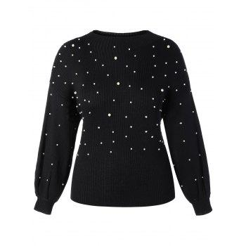 Plus Size Beaded Sweater