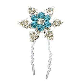 Zircon Alloy Floral Hairpin