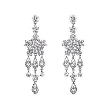 Snowflake Rhinestone Chandelier Earrings