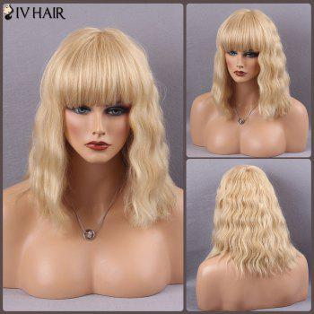 Siv Hair Full Bang Medium Wavy Real Natural Hair Wig