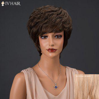Siv Hair Fluffy Short Full Bang Layered Curly Real Natural Hair Wig