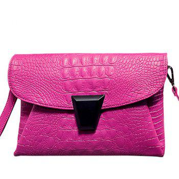 Crocodile Embossing Envelope Bag