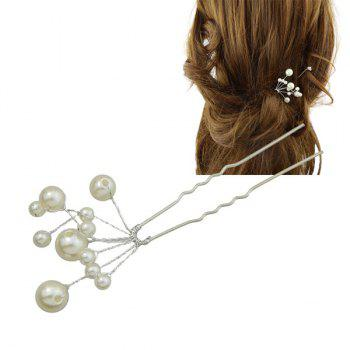 Faux Pearls Branch Hairpin