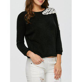 Lace Applique Sweater