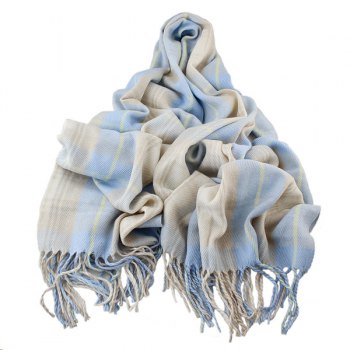 Tassel Plaided Shawl Scarf
