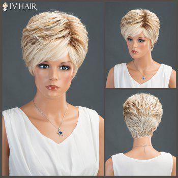 Straight Short Layered Oblique Bang Shaggy Siv Human Hair Wig