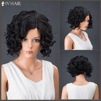 Side Parting Short Curly Shaggy Siv Human Hair Wig