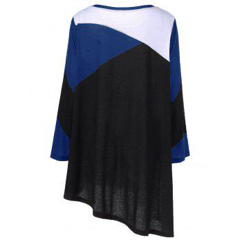 Plus Size Abstract Print Asymmetrical T-Shirt - XL XL