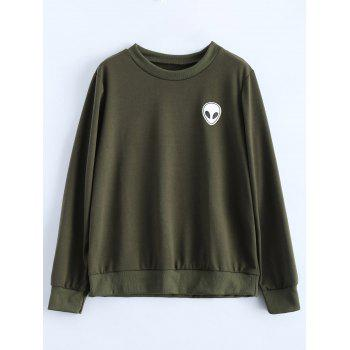 Skull Print Fitting Sweatshirt