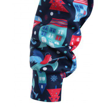 Plus Size Merry Christmas Kangaroo Pocket Patterned Hoodies - XL XL