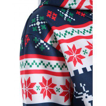 Plus Size Merry Christmas Snowflake Patterned Hoodies - 3XL 3XL