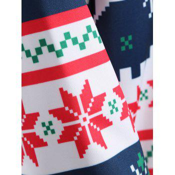 Plus Size Merry Christmas Snowflake Patterned Hoodies - XL XL