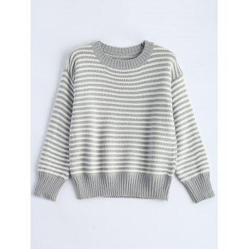 Drop Shoulder Stripe Sweater