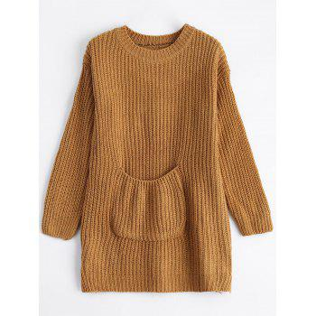 Chunky Knit Pocket Sweater