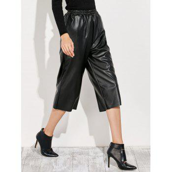 PU Leather Cropped Pants