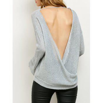 Cut Out Wrap Loose Knitwear