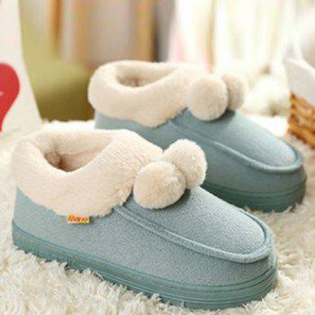 Pom Pom Flocking House Slippers