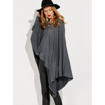 Hooded Lace Up Cape