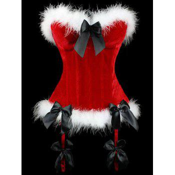 Lace Up Corset Top For Christmas