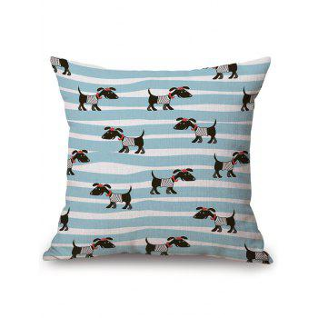 Dog Stripe Cushion Cover Sofa Decorative Pillowcase