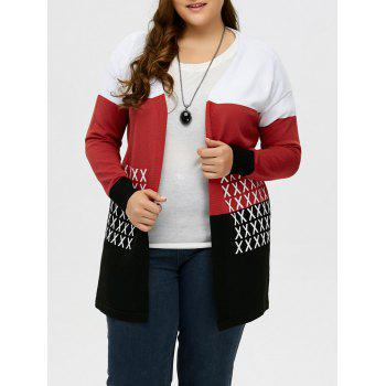 Plus Size Drop Shoulder Knit Cardigan
