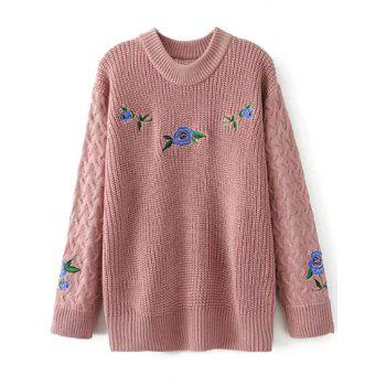 Embroidered Oversized Sweater