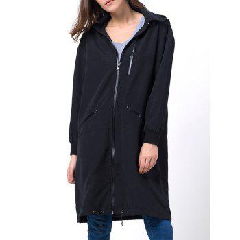 Hooded Full Zip Trench Coat
