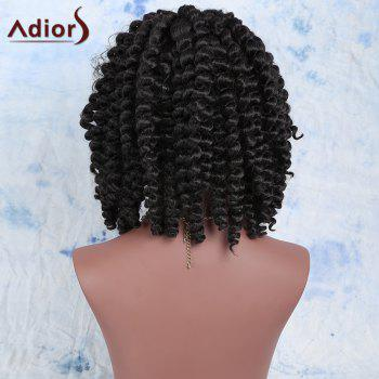 Fashion Women's Short Dark Brown Afro Curly Synthetic Hair Wig - BLACK BROWN