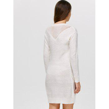 Robe fourreau tricotée ajourée - Blanc ONE SIZE(FIT SIZE XS TO M)