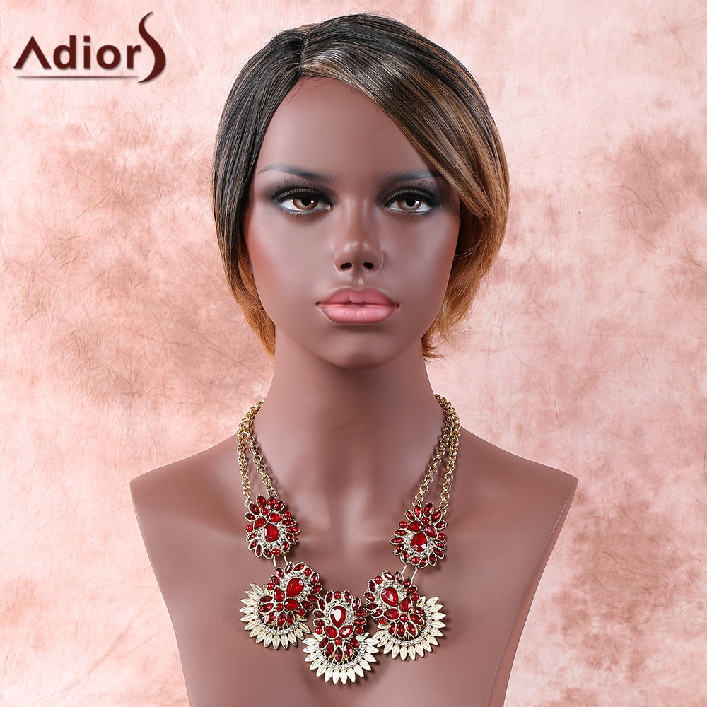 Adiors Side Parting Colormix Straight Short Wig - COLORMIX