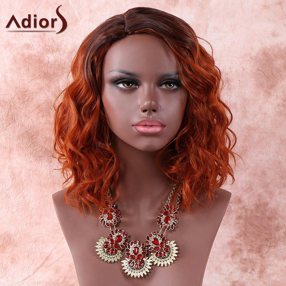 Adiors Side Parting Short Colormix Fluffy Curly Synthetic Wig