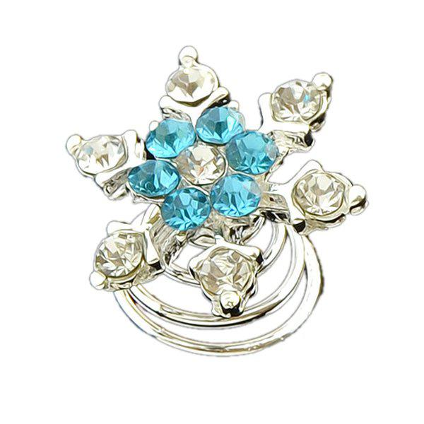 Rhinestone Flower Hair ClipAccessories<br><br><br>Color: BLUE