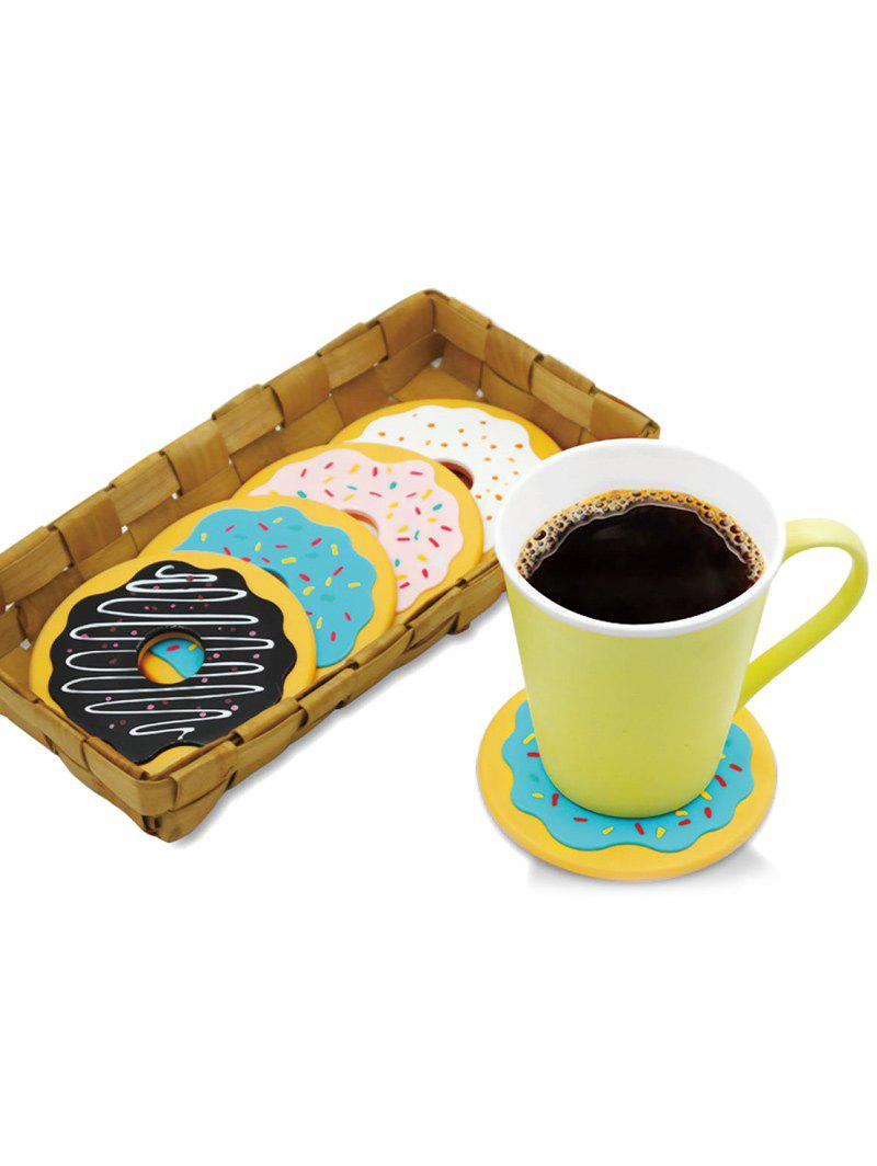 4PCS Thermal Insulation Skidproof Doughnut Table Coasters - COLORMIX