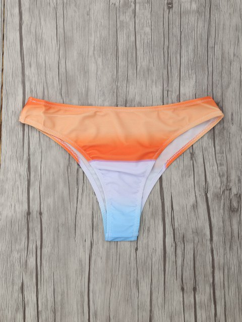 Seamless Surf Tie-Dye Skimpy Bikini Bottoms - ORANGE M