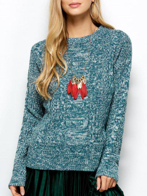 Pull tricoté - Turquoise ONE SIZE
