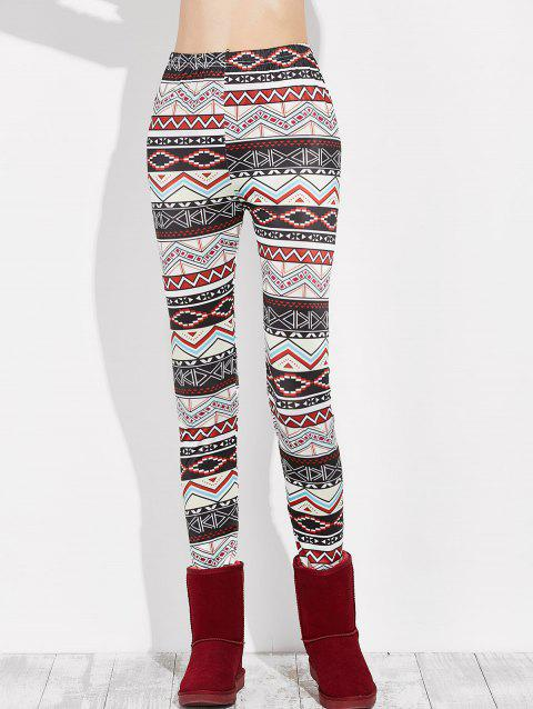 Slim Geometry Leggings - multicolor M