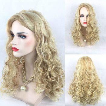 Adiors Long Side Parting Wavy Color Mix Shaggy Synthetic Wig