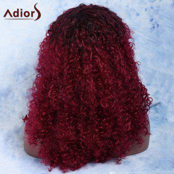 Women's Mixed Color Medium Afro Curly Side Parting Fashion Synthetic Hair Wig - COLORMIX