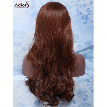 Women's Long Side Parting Wavy Mixed Color Fashion Synthetic Hair Wig - COLORMIX