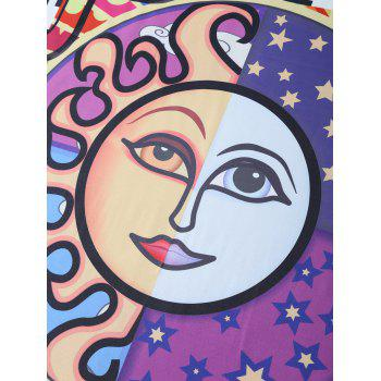 Character Print Square Shape Beach Throw - PURPLE PURPLE