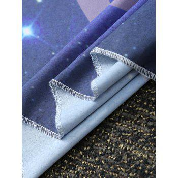 Feather Starry Sky Print Square Beach Throw - DEEP BLUE ONE SIZE