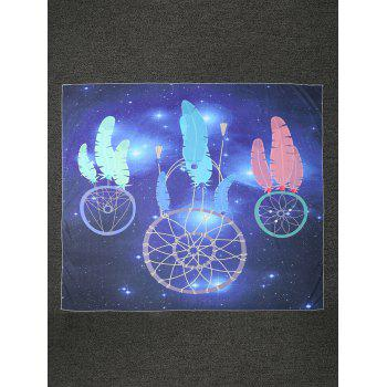 Feather Starry Sky Print Square Beach Throw