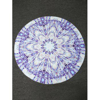 Bohemian Lotus Print Round Shape Beach Throw