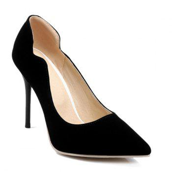 Stiletto Heel V-Shaped Cut Pumps