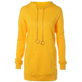 Pocket Design Hoodie with Pendant