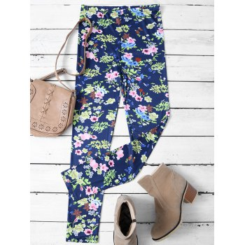 Skinny Tiny Floral Patterned Leggings