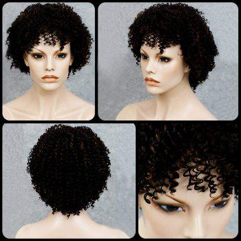 Stylish Black Mixed Synthetic Shaggy Afro Curly Women's Capless Wig