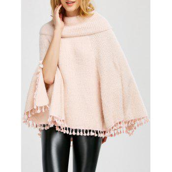 Wool Poncho With Collar