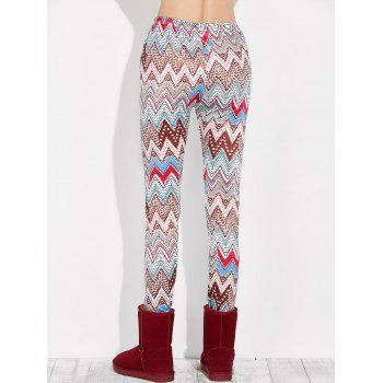 High Rise Leggings With Zigzag Print - S S
